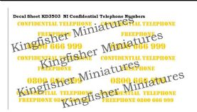 NI Confidential Phone Numbers - Yellow Type 2